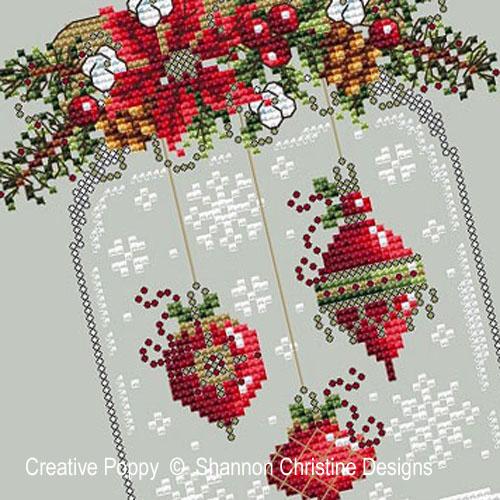 Shannon Christine Wasilieff - Boule à neige - aux 3 pendentifs, zoom 1 (grille de broderie point de croix)