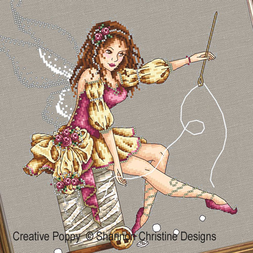 La fée couture, grille de broderie, création Shannon Christine Wasilieff