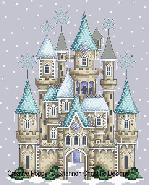 Le Château des glaces, grille de broderie, création Shannon Christine Wasilieff