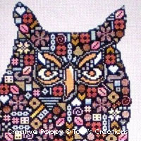 <b>Barnipatches, le hibou en patch!</b><br>grille point de croix<br><b>Tam's Creations</b>
