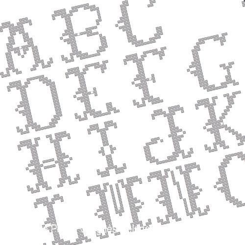 <b>Pinkeep dentelle avec monogrammes</b><br>grille point de croix<br>création <b>Agnès Delage-Calvet</b>