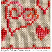 Miniature Love, grille de broderie, création Agnès Delage-Calvet