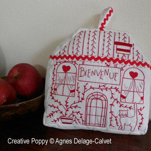 Maison Bienvenue, modèle de broderie, création Agnès Delage-Calvet
