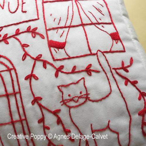Maison Bienvenue, broderie, création Agnès Delage-Calvet, zoom3