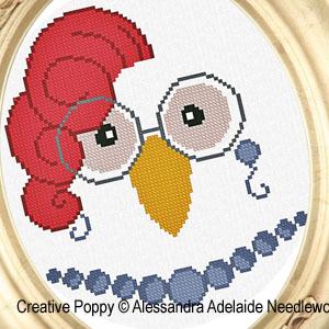 Modèles de broderie avec Animaux, création Alessandra Adelaide