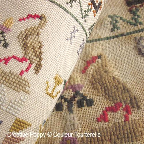 Mina Nagelhout 1864, grille de broderie, création Couleur Tourterelle