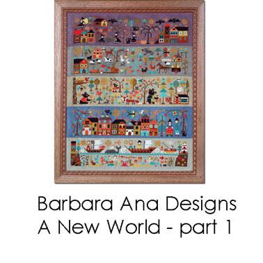 Le nouveau monde (partie I) - La nuit de toutes les frayeurs, grille de broderie, création Barbara Ana