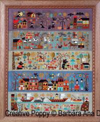 Le nouveau monde (partie II) - Prairies généreuses, grille de broderie, création Barbara Ana