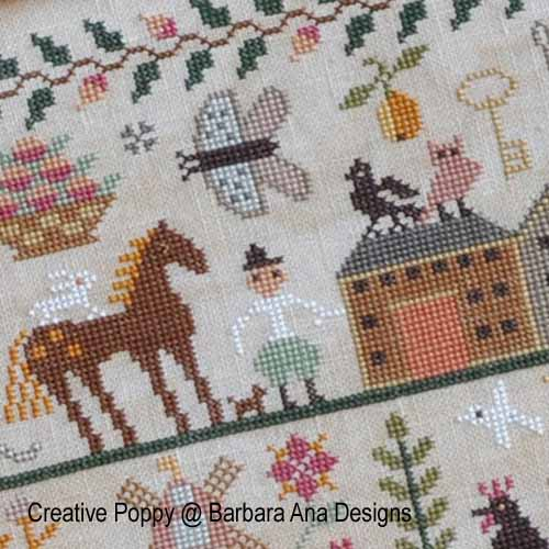 All Creatures Great and Small, grille de broderie, création Barbara Ana