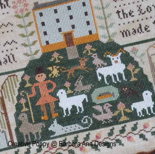 All Creatures Great and Small broderie point de croix, création Barbara Ana, zoom3