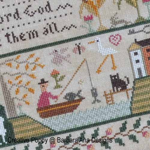 All Creatures Great and Small broderie point de croix, création Barbara Ana, zoom1