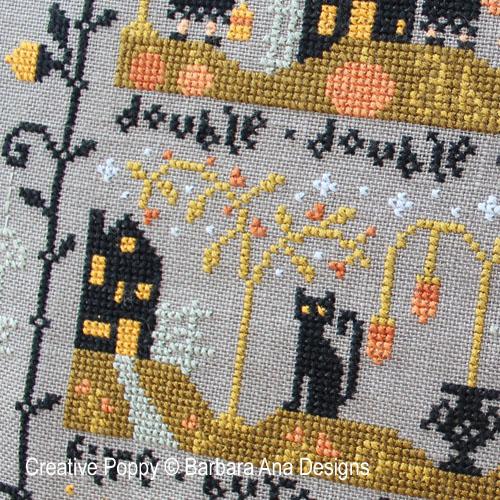 le Vallon au Chat Noir 2ème partie grille de broderie, création Barbara Ana