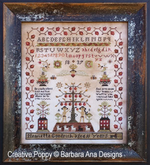 Barbara Ana - Henrietta Goodrich Sampler (downloadable cross stitch pattern)