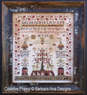 Barbara Ana - Henrietta Goodrich Sampler (grille de broderie au point de croix)