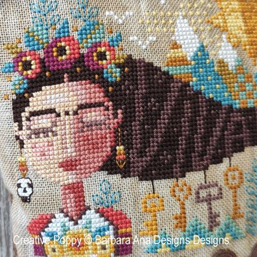 Grille Mystère: Frida rêvant - SAL 2021 Barbara Ana, grille de broderie, création Barbara Ana