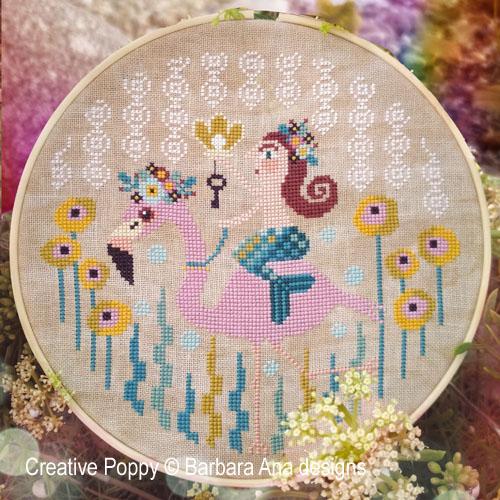 La perle de la Mer, grille de broderie, création Barbara Ana