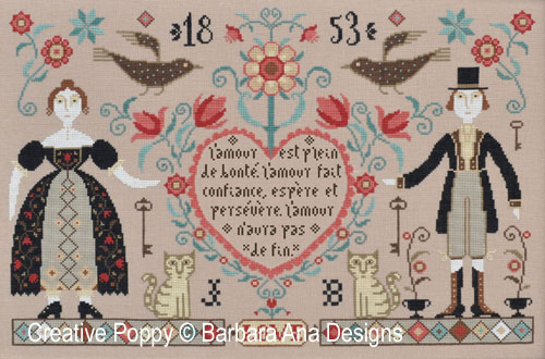 Barbara Ana - Love Never fails (grille de broderie point de croix)