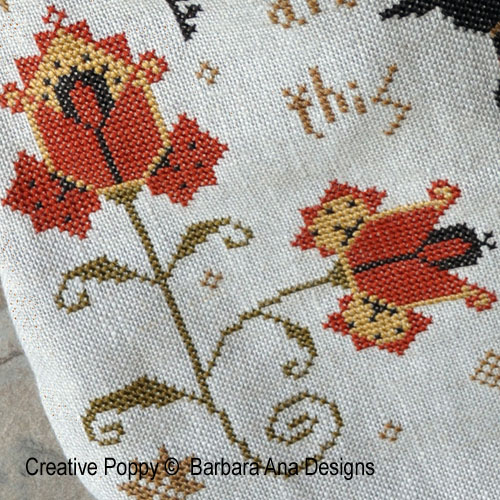 Mary Pepper, grille de broderie, création Barbara Ana