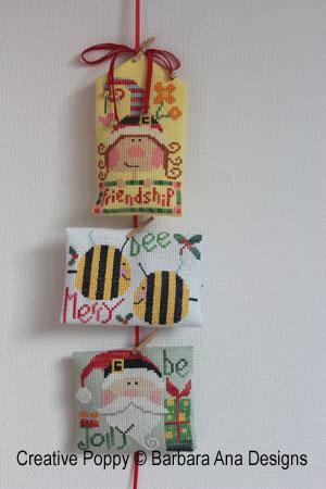 Mini motifs de Noel, grille de broderie, création Barbara Ana