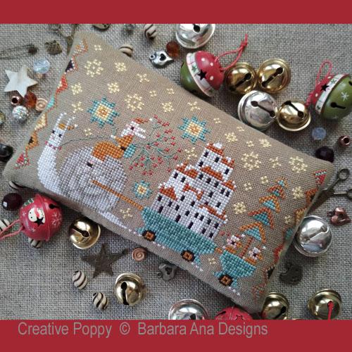 Noël arrive, grille de broderie, création Barbara Ana