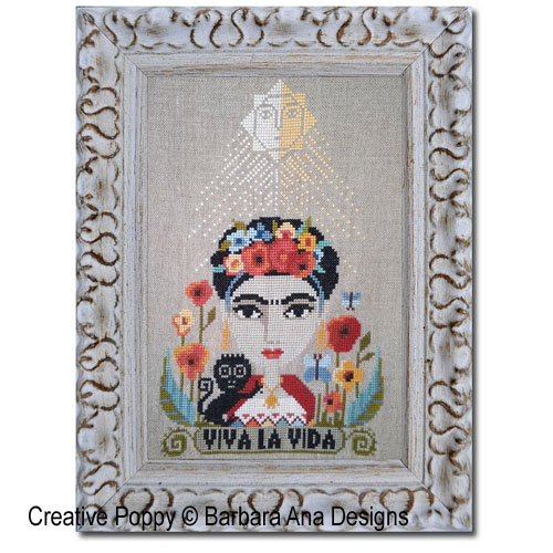 Viva la Vida, grille de broderie, création Barbara Ana