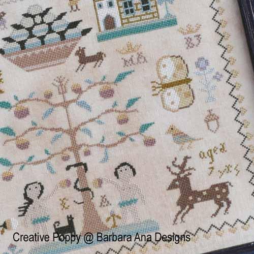 Marquoir Polly Kirby, grille de broderie, création Barbara Ana