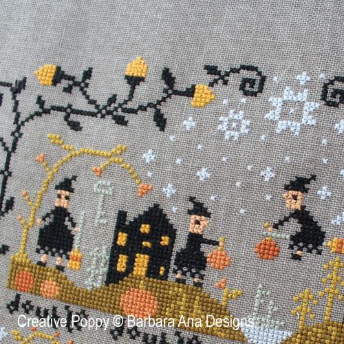Le vallon au chat noir, grille de broderie, création Barbara Ana