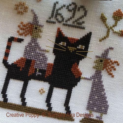 Witch Cat?, grille de broderie, création Barbara Ana