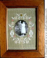 Cadre romantique (pour photo) - grille point de croix - création Chouett'alors