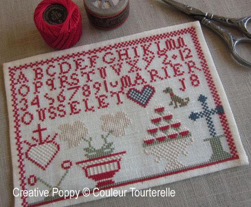Marie Rousselet, grille de broderie, création Couleur Tourterelle