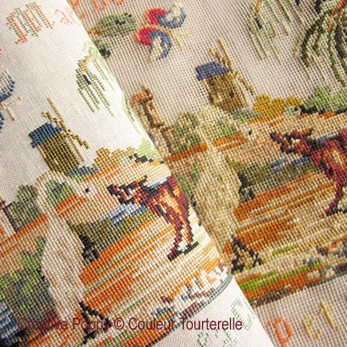 Gilberte Maleinge 1924, grille de broderie, création Couleur Tourterelle