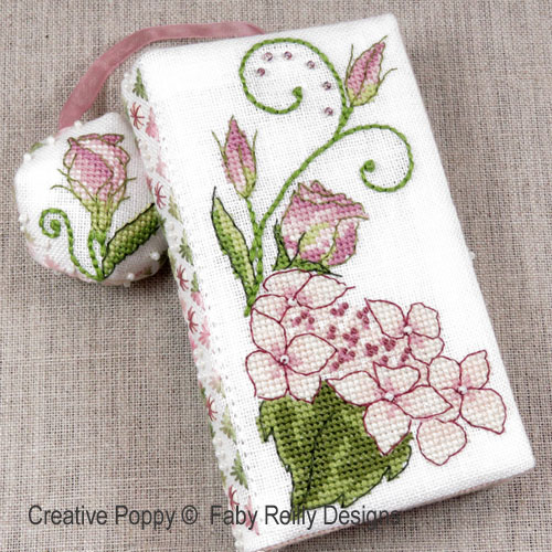 Etui à broder Lizzie, grille de broderie, création Faby Reilly