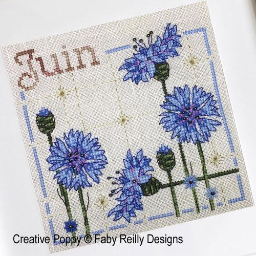 Faby Reilly Designs - Anthea - Juin - Bleuets (grille point de croix)