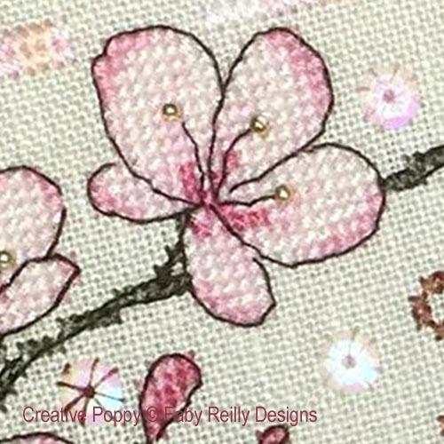 Anthea - Mai - Sakura, grille de broderie, création Faby Reilly Designs