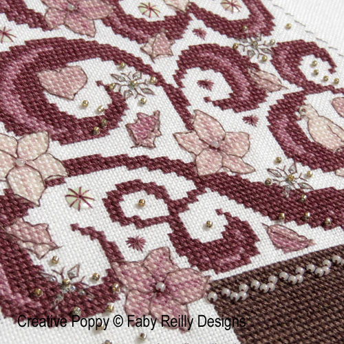 O Tannenbaum en Rose, grille de broderie, création Faby Reilly