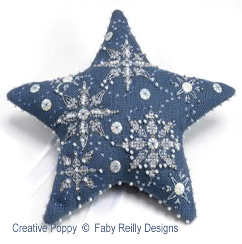 Faby Reilly - Etoile - let it snow (grille de broderie point de croix)