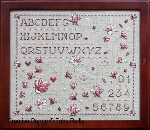 Faby Reilly - Marquoir Magnolia (grille de broderie point de croix)