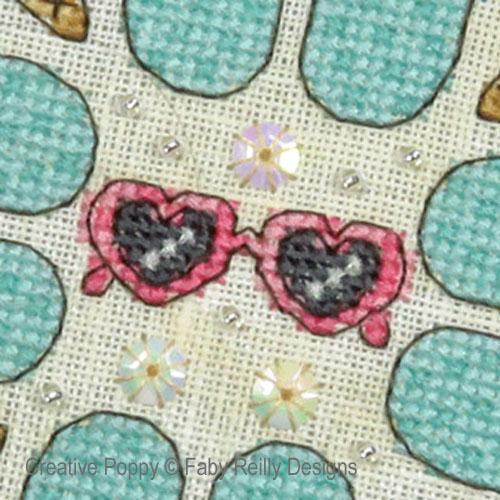Mandala Rêves d'été, grille de broderie, création Faby Reilly
