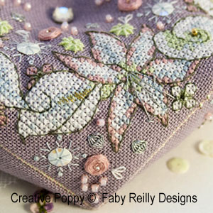 Broderie Bouquet Hivernal broderie point de croix, création Faby Reilly, zoom2