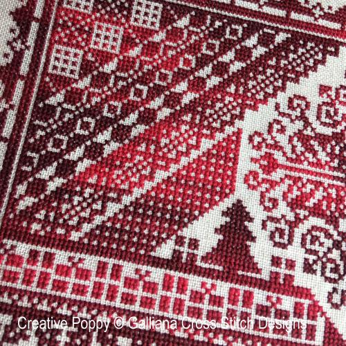 Marquoir de Noël, grille de broderie, création Galliana