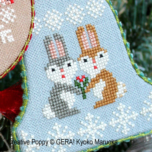 Ornements de Noël, grille de broderie, création GERA! Kyoko Maruoka