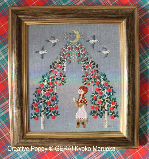 Anne (La prière), grille de broderie, création GERA! Kyoko Maruoka