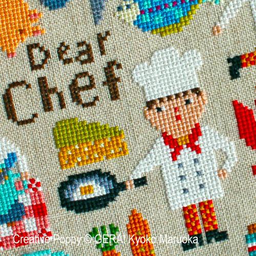 Gera! Kyoko Maruoka - Le Chef, zoom 1 (grille de broderie point de croix)