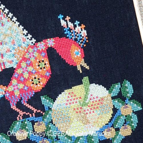 Gera! Kyoko Maruoka - Oiseau de feu - Contes et légendes russes, zoom 1 (grille de broderie point de croix)