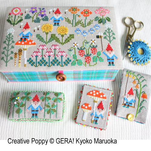 Gera! Kyoko Maruoka - Petits nains des champs (grille de broderie point de croix)