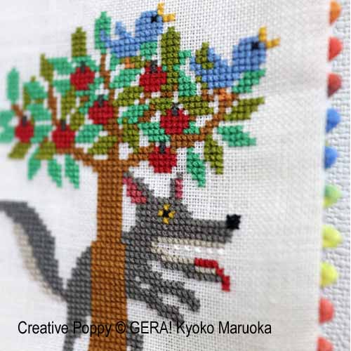 Les trois petits cochons cross stitch pattern by GERA! Kyoko Maruoka, zoom 1