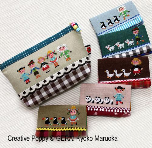 Enfants de tous pays, grille de broderie, création Kyoko Maruoka GERA!