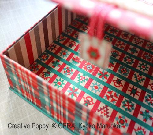 Joyeux Noël à tous et à toutes!, grille de broderie, création GERA! Kyoko Maruoka