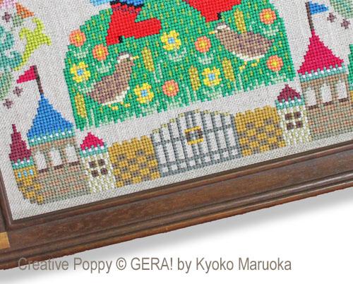 Gera! Kyoko Maruoka - Le Chat Botté, zoom 1 (grille de broderie point de croix)