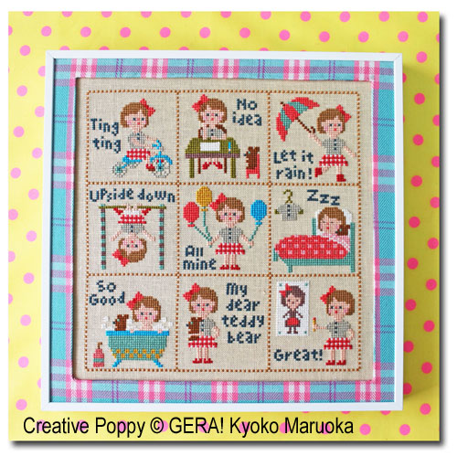 Petite Clara, grille de broderie, création GERA! Kyoko Maruoka